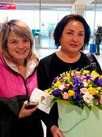 Фото доставки: Сюрприз на встречу в аэропорту.