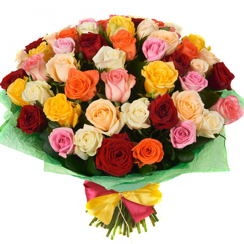 Фото 51 разноцветная роза