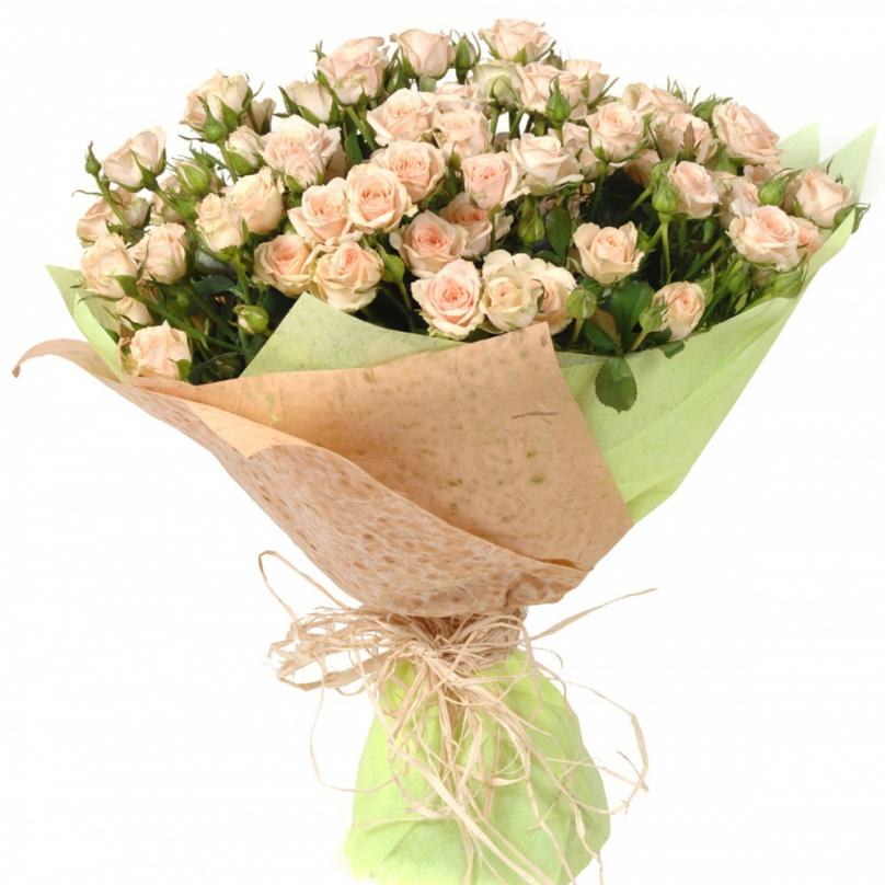 Фото 25 нежно-розовых кустовых роз