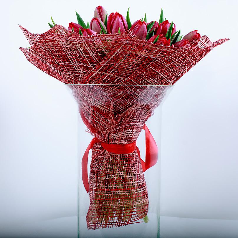 Фото 27 красных пионовидных тюльпанов