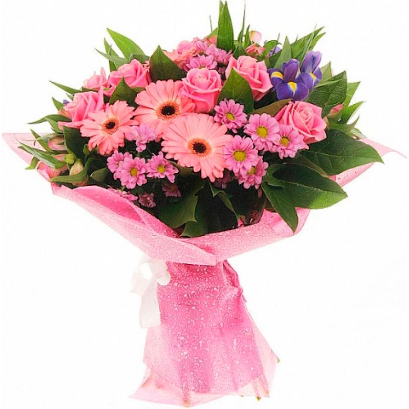 Фото Букет сборный розовый