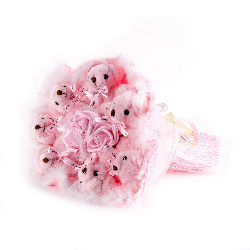 Фото Розовые медведи