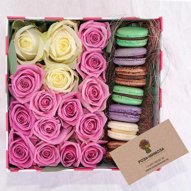 Розовое с белым и макарон