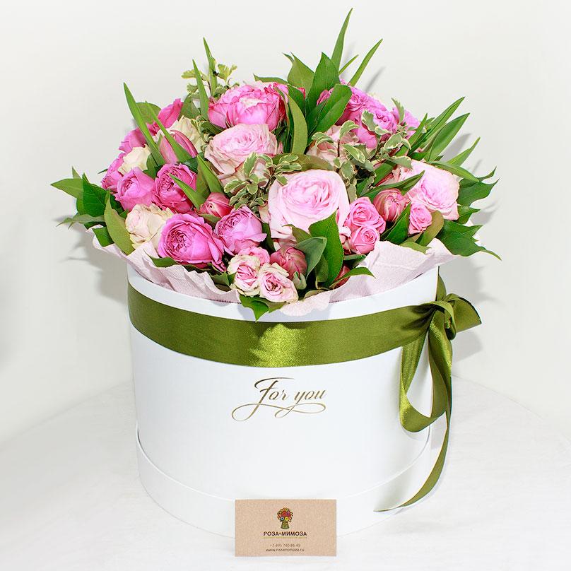 Фото Премиум коробка с пионовидными розами