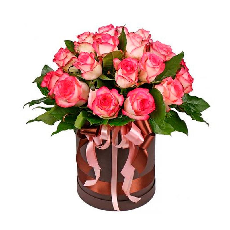 Фото 19 стойких роз в миникоробке