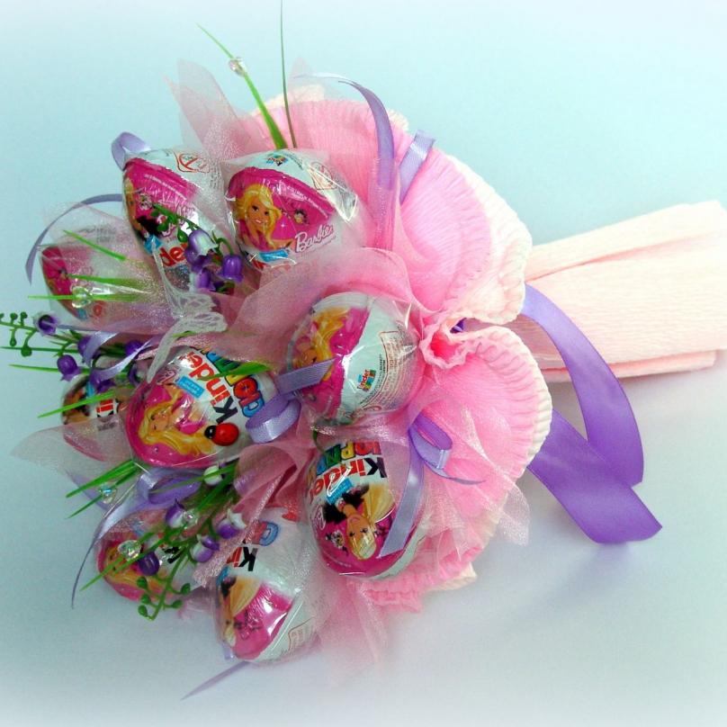 Букет из конфет для детей своими пошаговое